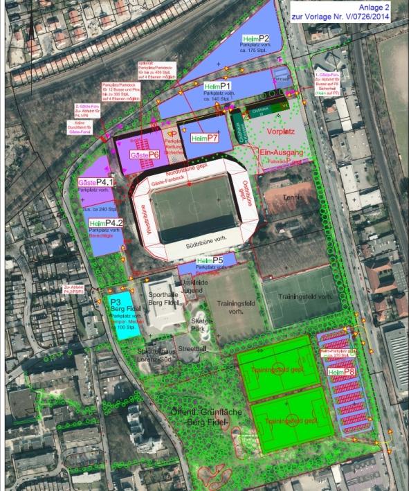 Strukturkonzept Stadion. Quelle: Stadt Münster